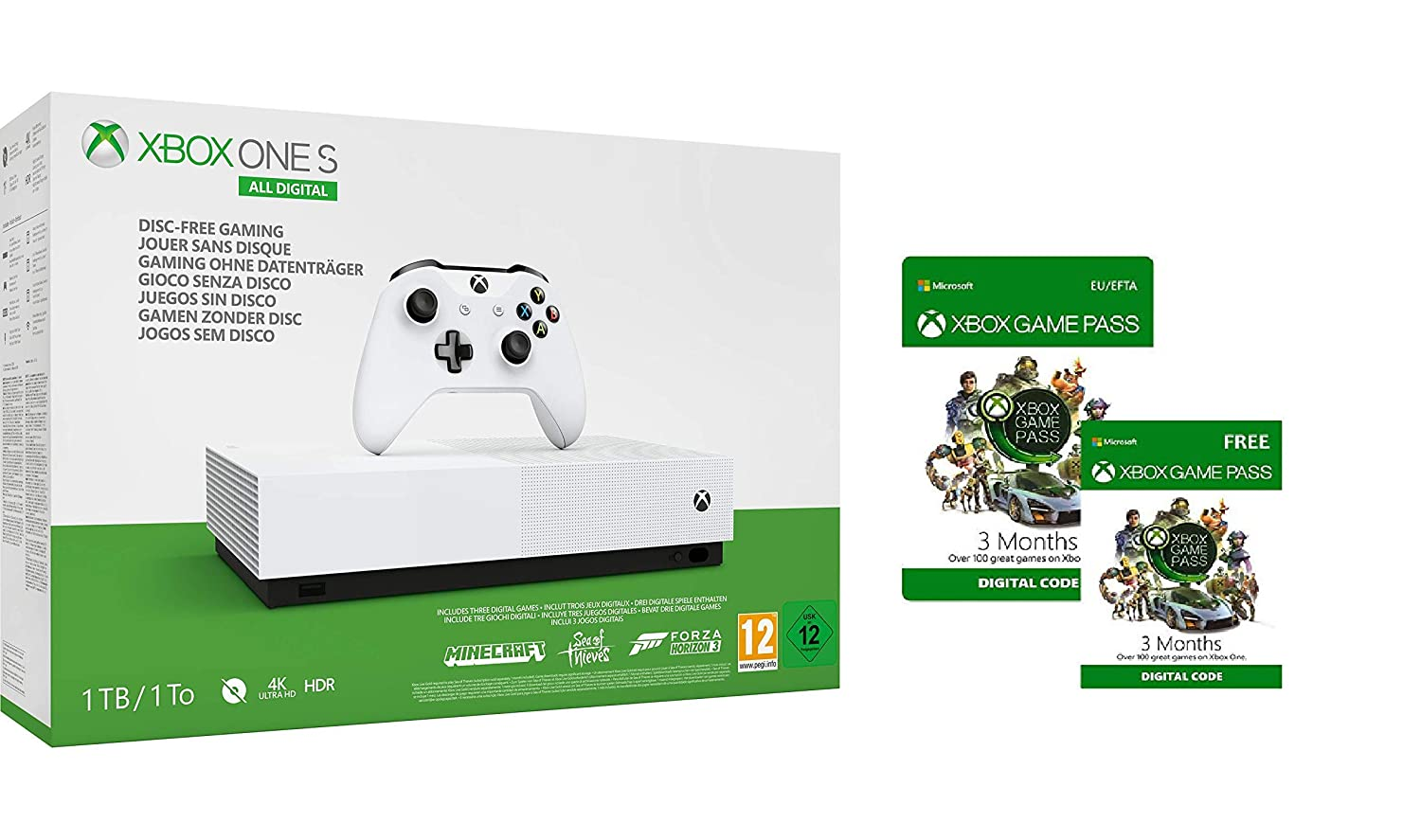 Xbox One S 1TB All-Digital Edition console + Xbox Game Pass