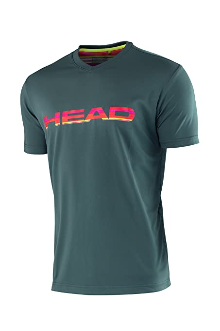Head Bo V-Neck - Camiseta de tenis para hombre, color gris, talla