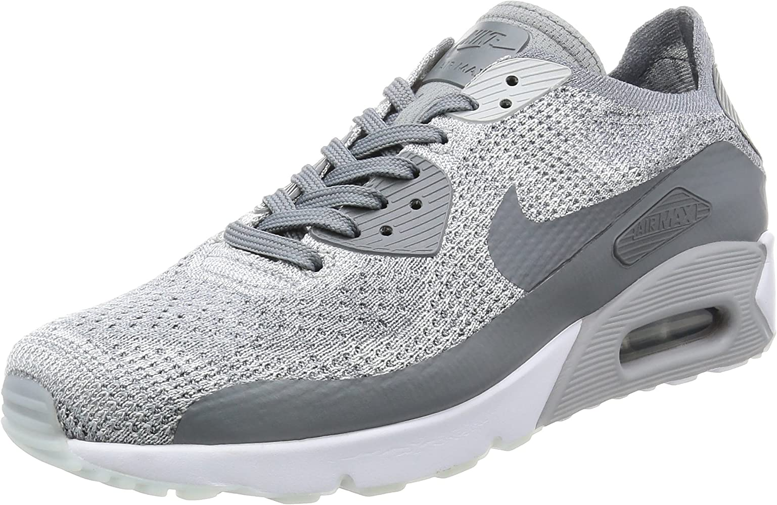 reputable site 8438d 8bfcd Men's Air Max 90 Ultra 2.0 Flyknit, Pure Platinum/Cool Grey-White, 11 M US