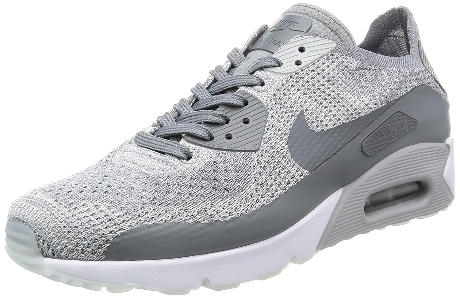 half off 22ab6 addea Amazon.com   Nike AIR MAX 90 Ultra 2.0 Flyknit Mens Running-Shoes  875943-003 9.5 - Pure Platinum Cool Grey-White-Wolf Grey   Fashion Sneakers