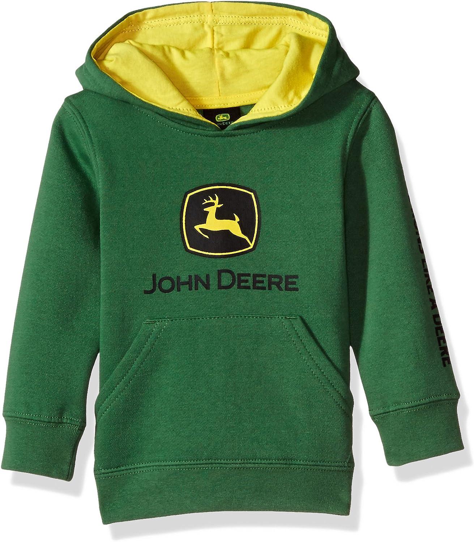 John Deere Tractor Infant Toddler Boys' Pullover Fleece Hoody Sweatshirt: Clothing