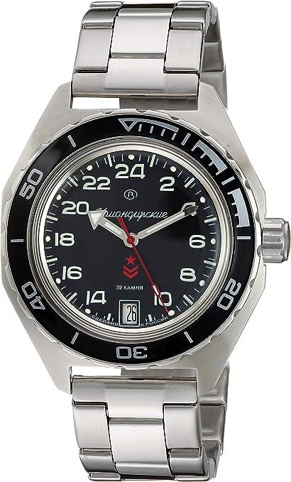 Vostok Komandirskie Reloj de pulsera con esfera militar rusa (automático, 24 horas, 200 m) (650541): Amazon.com.mx: Relojes