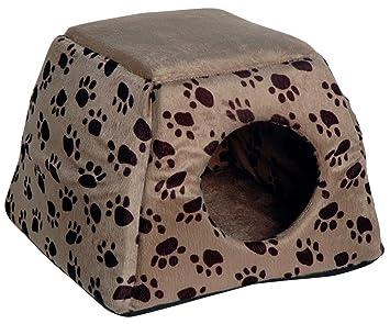 dobar 60171 - Cama plegable y cueva para gatos y perros pequeños (40 x 40 x 30 cm), color gris: Amazon.es: Productos para mascotas