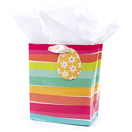 Buy hallmark medium easter gift bag with tissue paper easter hallmark medium easter gift bag with tissue paper easter stripes negle Images