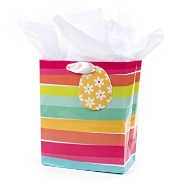 Amazon hallmark medium easter gift bag with tissue paper hallmark medium easter gift bag with tissue paper easter stripes negle Choice Image