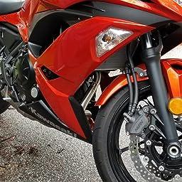 Amazon.com: Akrapovic 17-18 Kawasaki EX650E Racing Full ...