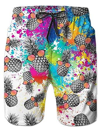 0535b0c1807900 Spreadhoodie 3D Homme Short de Bain Bermuda Homme Séchage Rapide Exercice  Shorts Motif imprimé en Swimming Tunks Surfant Shorts