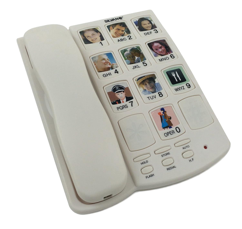 Tel/éfono con teclas grandes portafotos