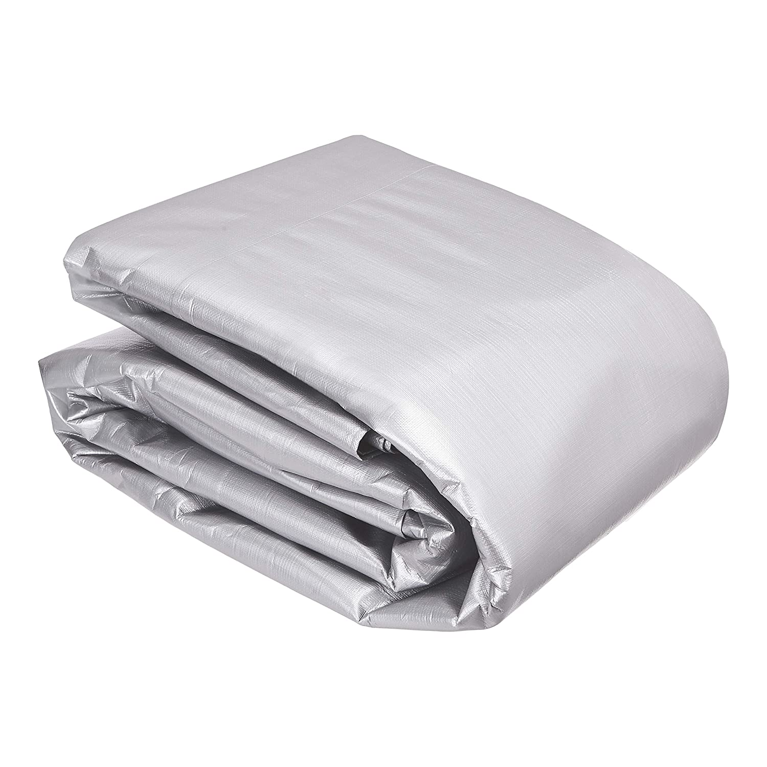 6 X 8 FT Silver//Black 3-Pack 16MIL Thick Commercial Multi Purpose Waterproof Poly Tarp Cover