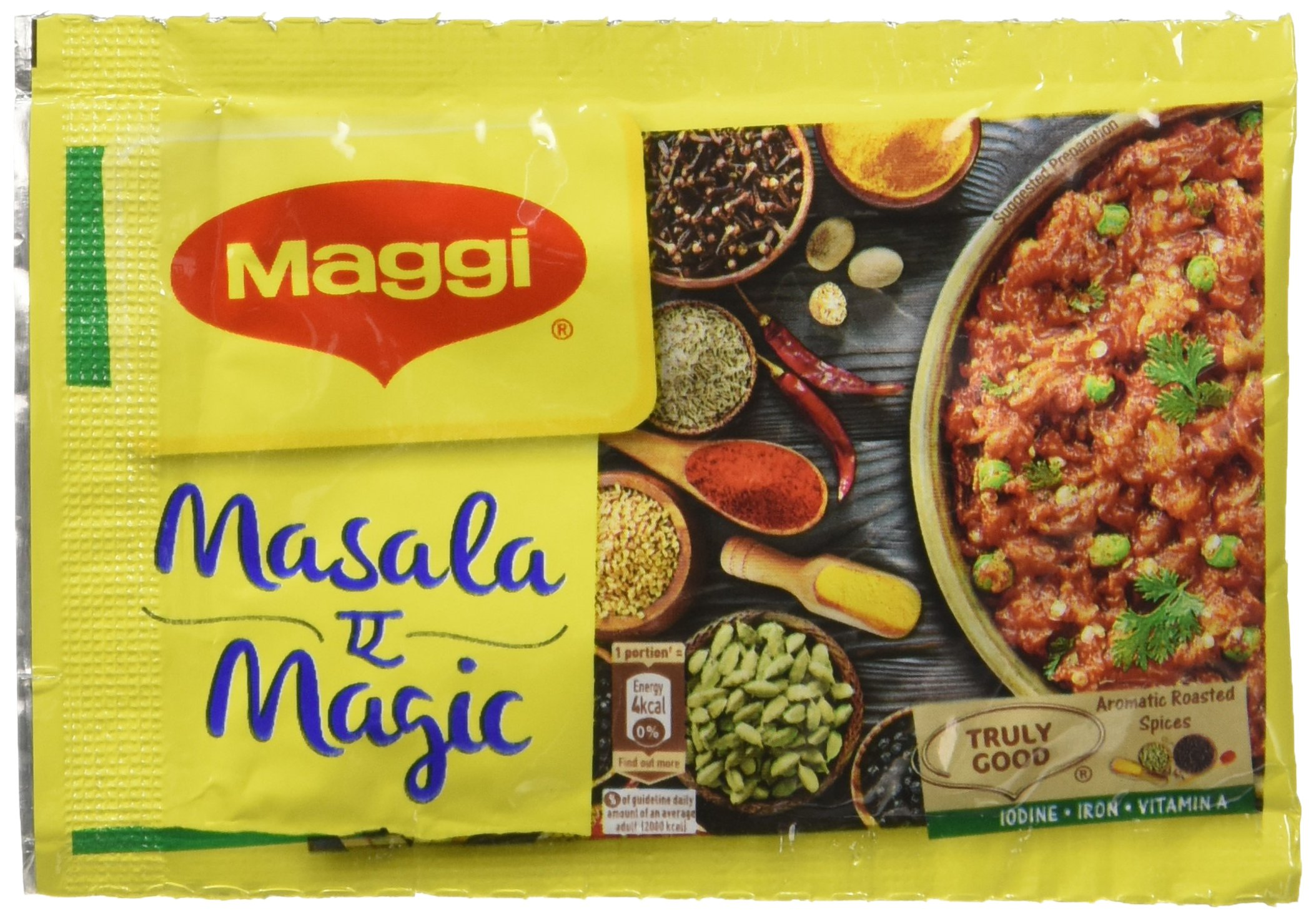 72 Sachet Maggi Masala a Magic the First Ever Fortified Taste Enhancer Taste of Indian Food Seasonings 6g X 72 = 432 Grams (Pack of 72 sachets)