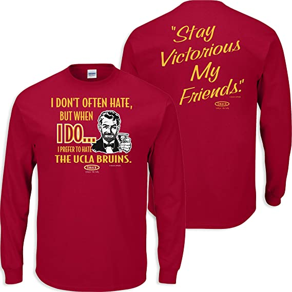 Sm-5x Red Soft Style Shirt I Dont Often Hate Stay Victorious Anti-Saints Smack Apparel Atlanta Football Fans