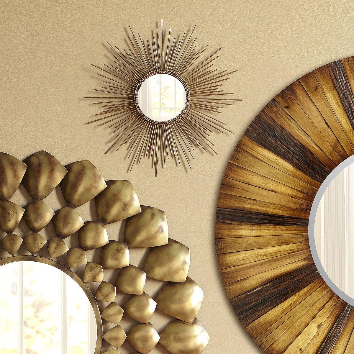 Amazon.com: Gold or Silver Sunburst Starburst Wall Mirror (Small or ...