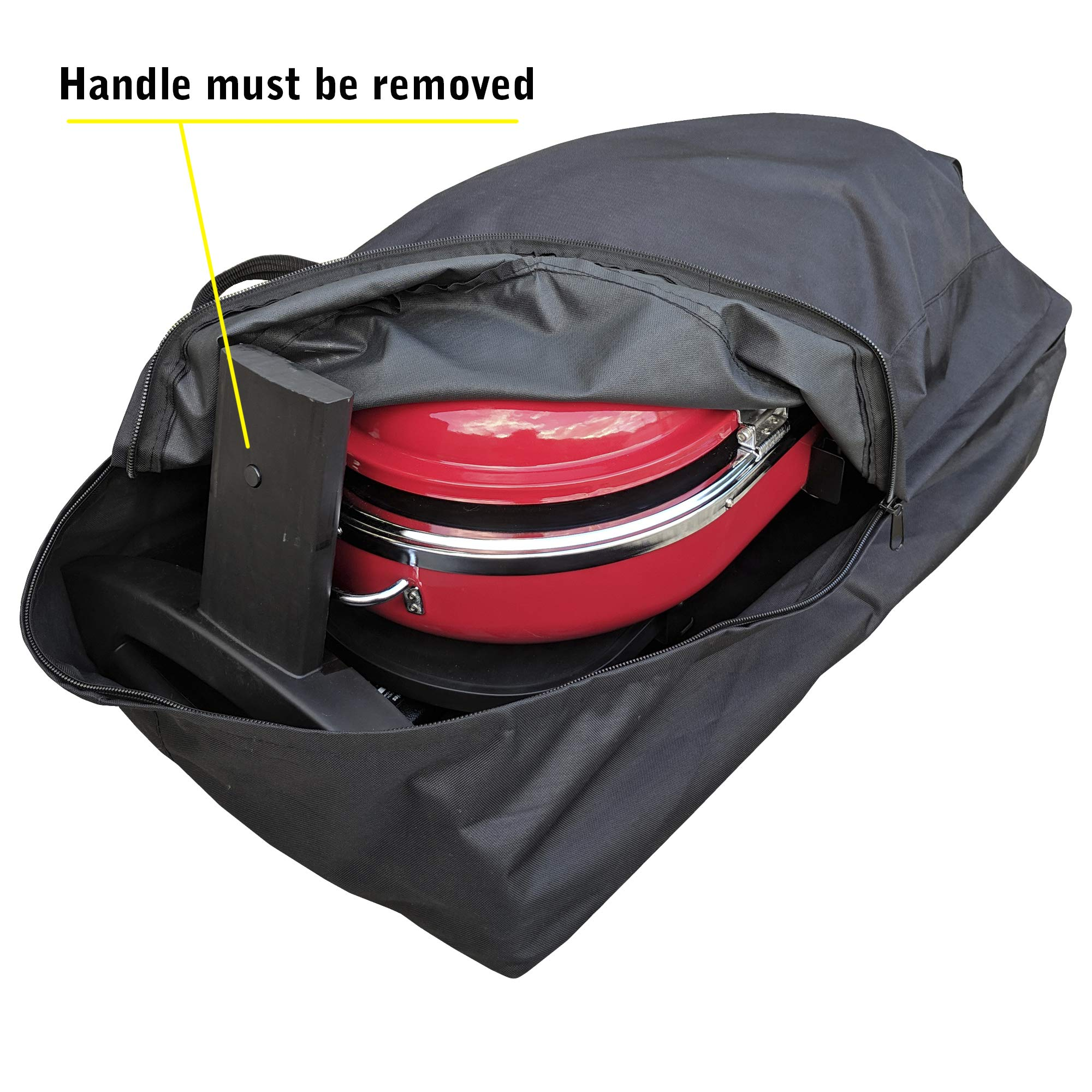 Grill Cover/Bag for Coleman Roadtrip LXE and LXX - Heavy Duty, All Weather Storage Case by Redwood Grill Supply