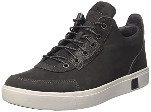 7a2694b3597d Timberland Men s Amherst High Top Sensorflex Chukka Grey  Amazon.co ...