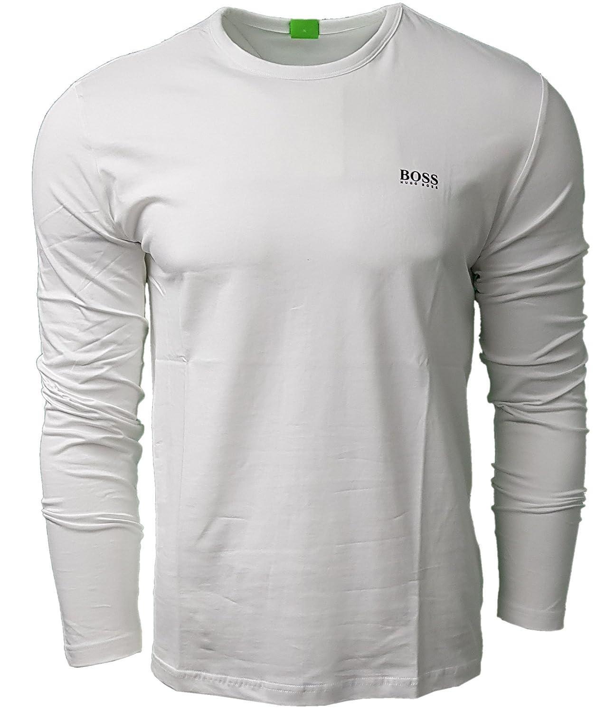 BOSS Hugo Men's Long Sleeve Crew T Shirt. Modern Fit