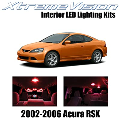Xtremevision Interior LED for Acura RSX 2002-2006 (10 Pieces) Red Interior LED Kit + Installation Tool: Automotive