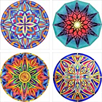 "Leyzan 4 Pack 5D Diamond Painting Mandala Flower Full Drill Paint with Diamond Art, DIY Painting by Number Kits Embroidery Rhinestone Wall Home Decor 30x30cm (12""x12"")"