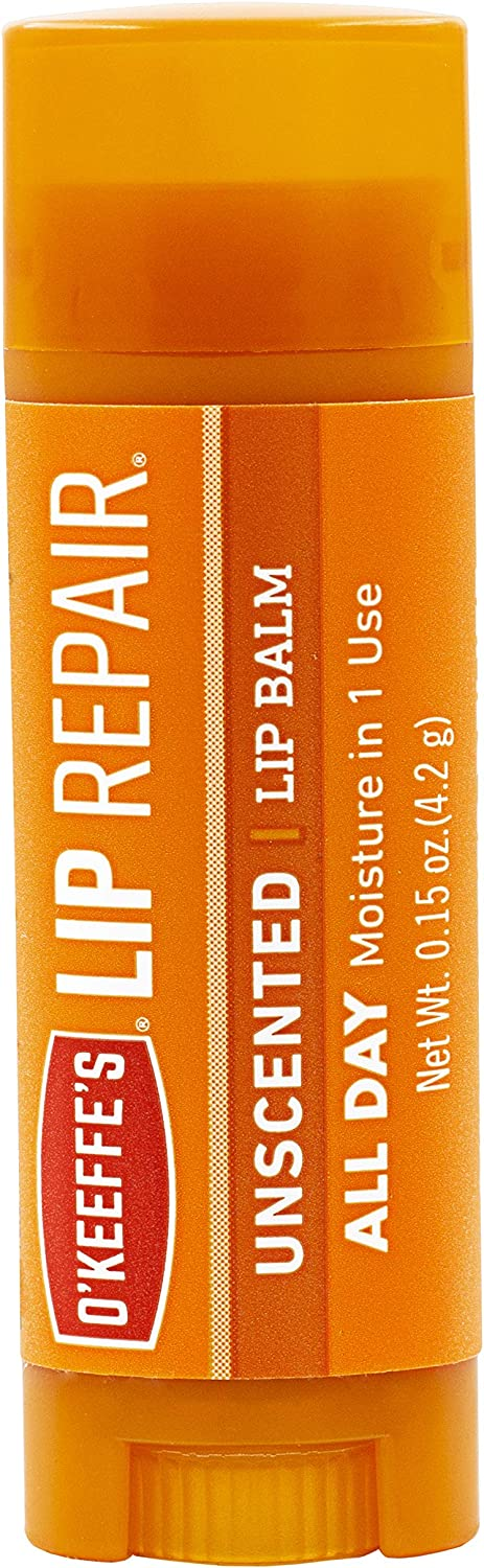 O'Keeffe's Unscented Lip Repair Lip Balm for Dry, Cracked Lips, Stick, Twin Pack: Home Improvement