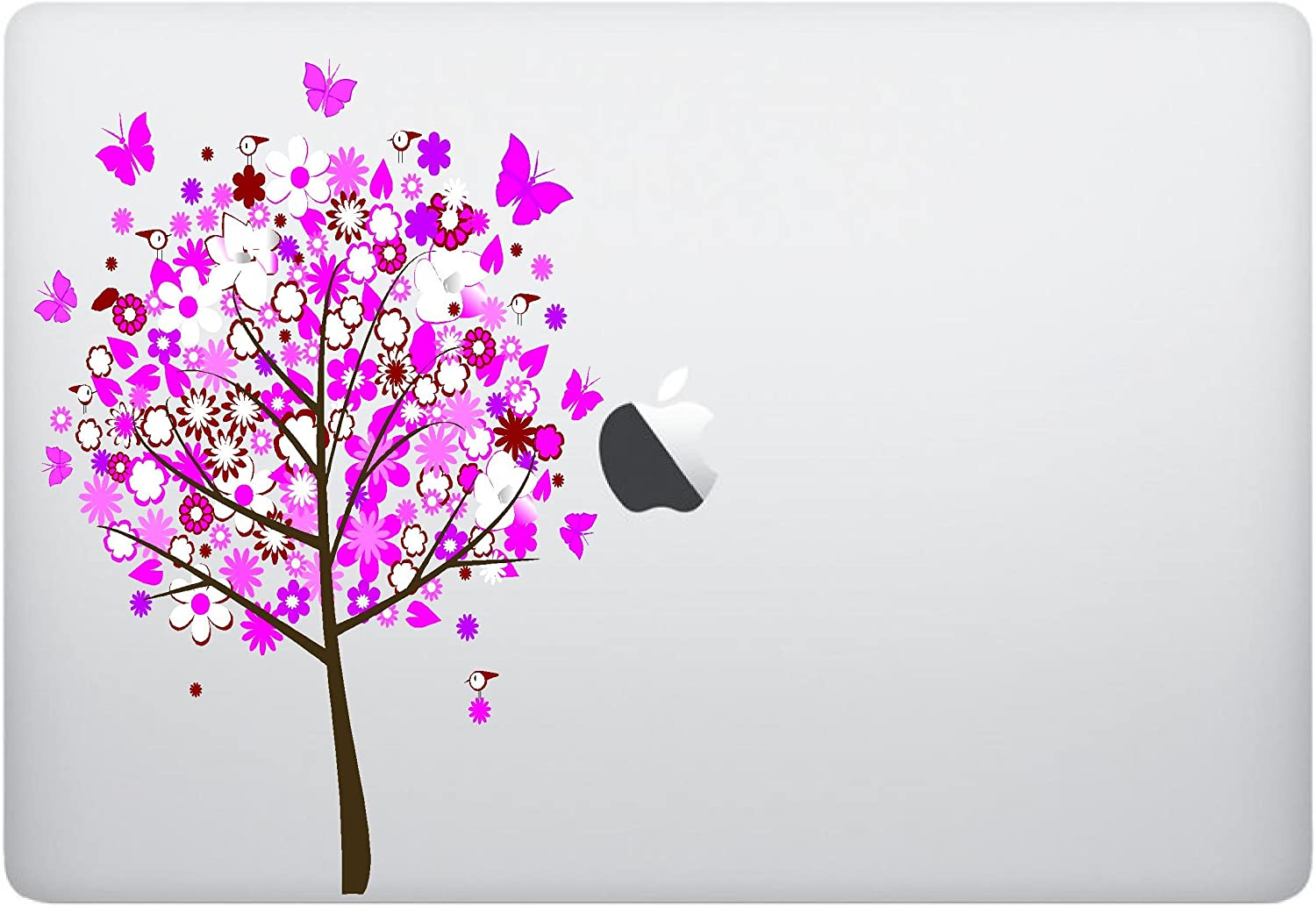 Laptop Sticker Decal - Tree with Birds and Butterflies - Skins Stickers