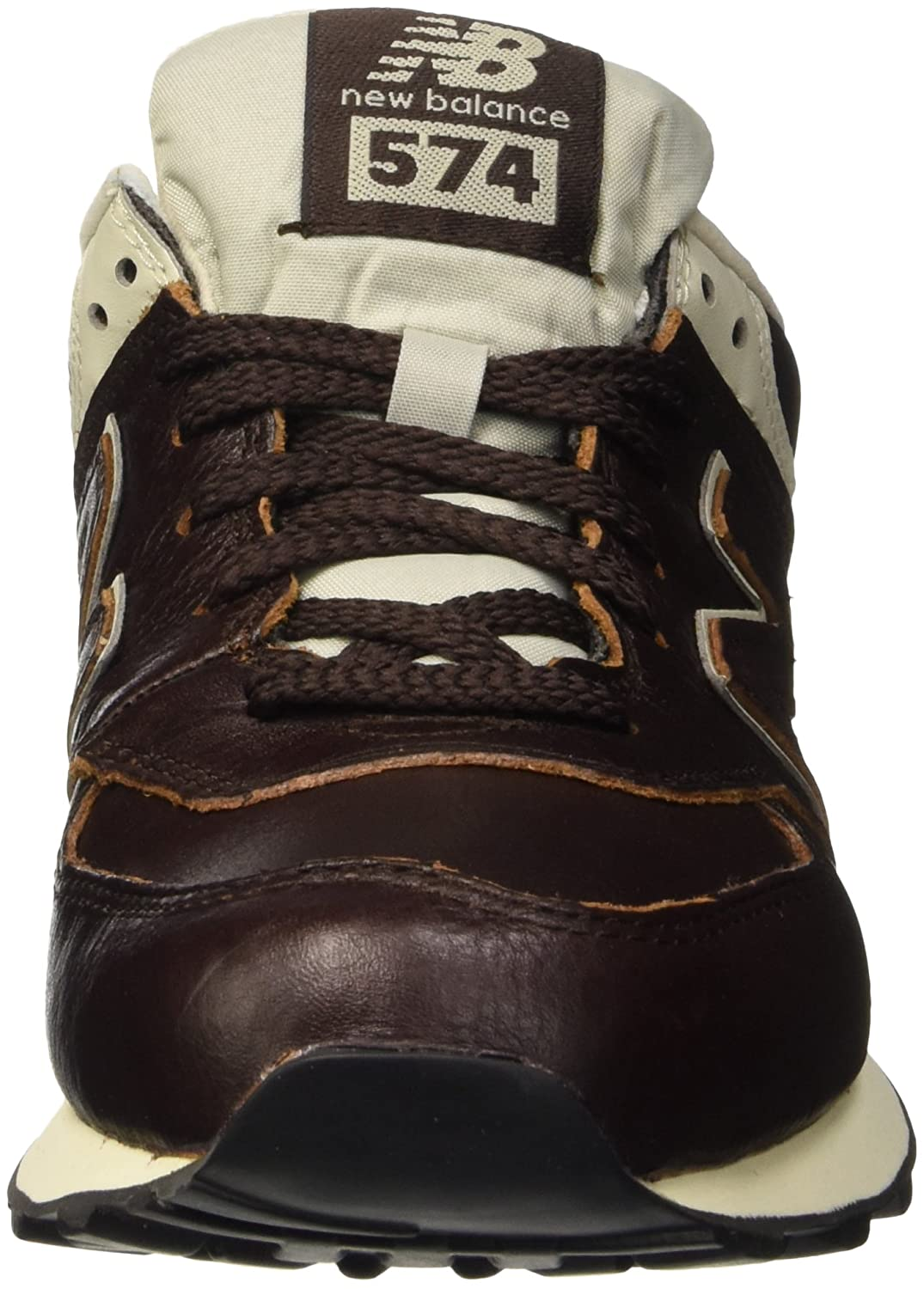 new balance men's 574 lux leather trainers