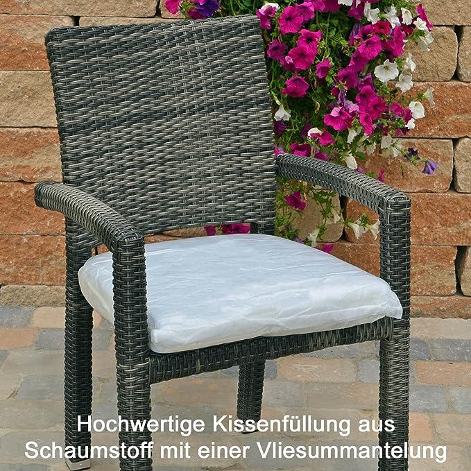 Sitzkissen mit Bindeband und Reißverschluss 49x48x6 cm in rot Kissen Stuhlkissen