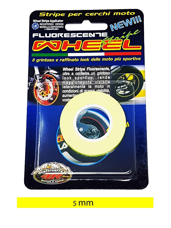Bandes Wheel Stripes Fluorescents pour les Jantes des Motos Vert 5 mm x 6 mt
