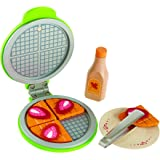 Hape Instant Waffles Kid's Wooden Kitchen Play Food Set and Accessories