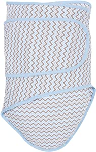 Miracle Blanket Swaddle for Baby Boys, Blue Chevron