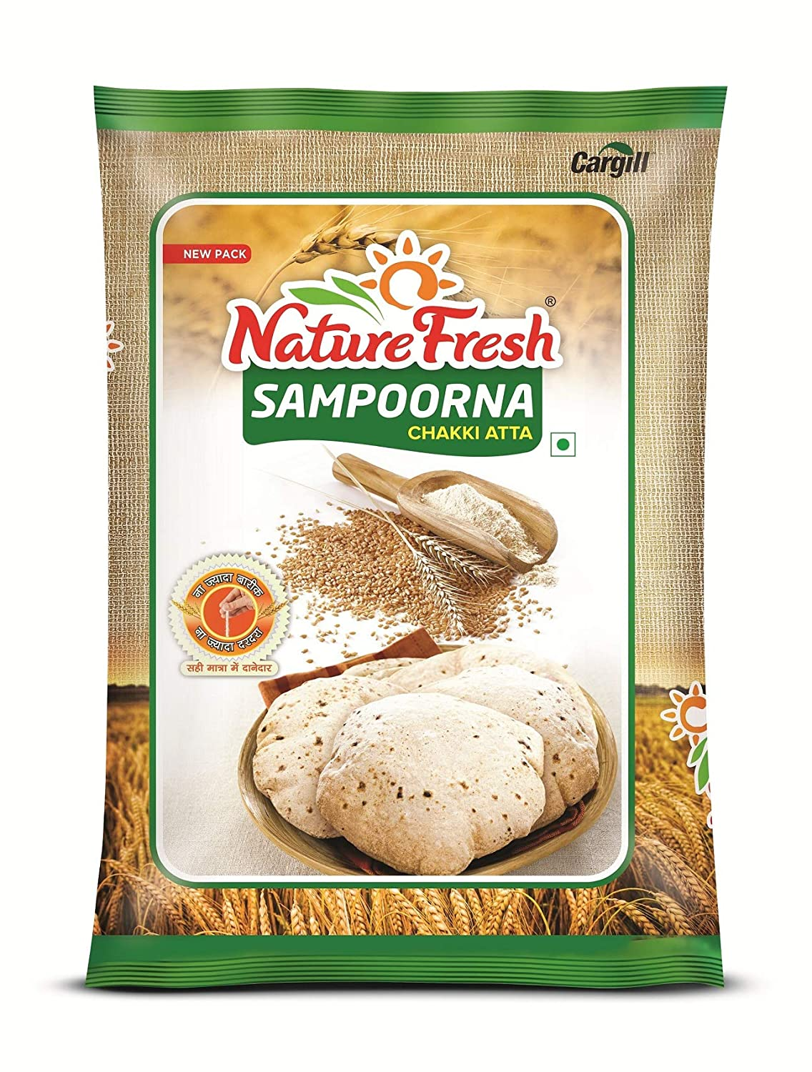 Nature Fresh Sampoorna Chakki Atta, 10kg