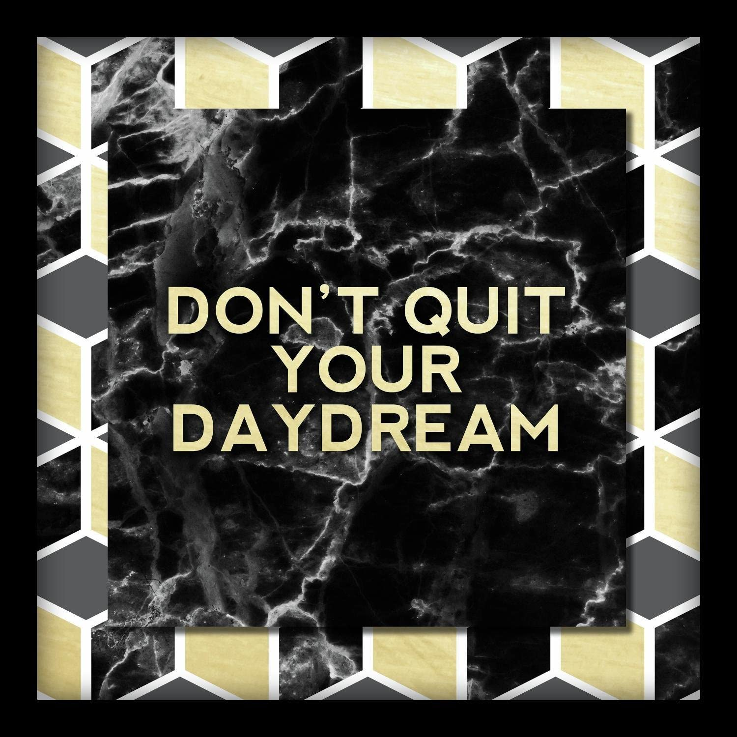 Linden Ave AVE10352 Don't Quit Your Daydream Shadowbox Wall Art