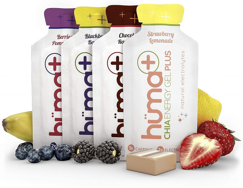 Huma PLUS - Chia Energy Gel, Variedad, 12 Paquetes - Geles Energéticos, Nutrición Deportiva: Amazon.es: Salud y cuidado personal