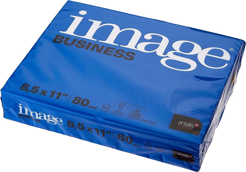 5 Packs of 500 Sheets US Letter ImageBusiness Copier Paper 80g//m2 215 mm x 279 mm FSC Mix 70/%