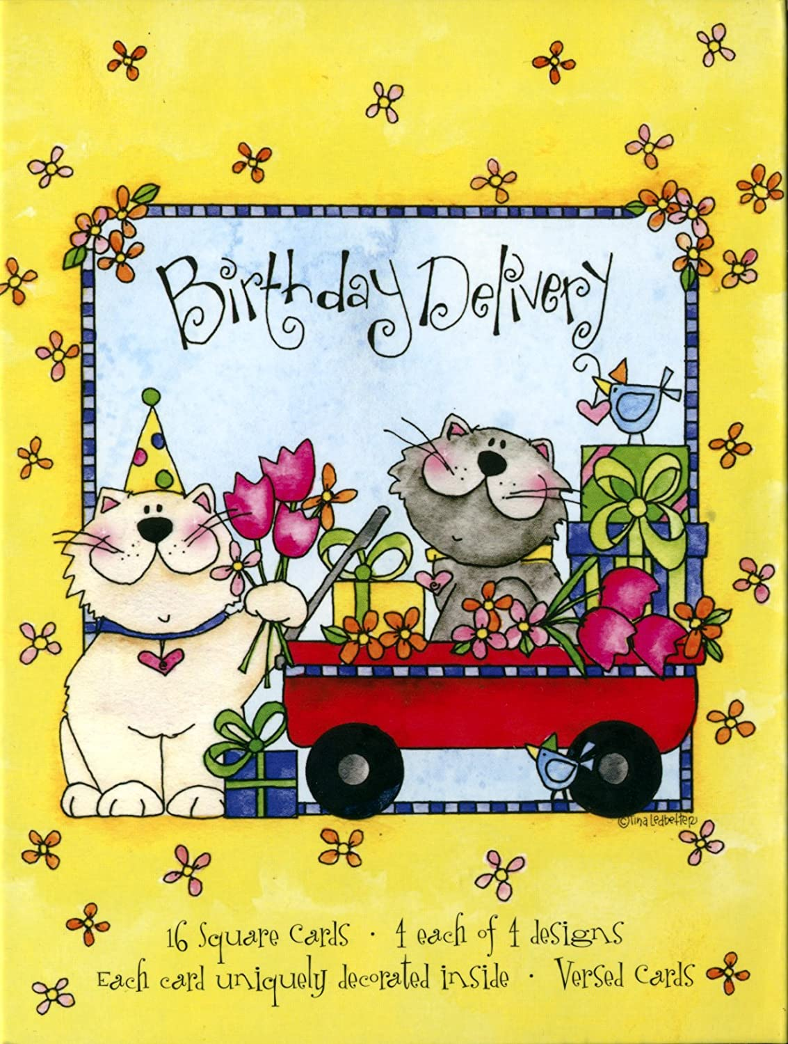 Driftwood Designs Tina Ledbetter Birthday Delivery Boxed Cards