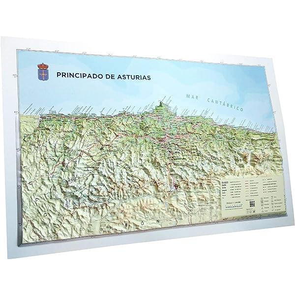 Mapa en relieve del Principado de Asturias: 1:550.000: Amazon.es ...