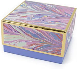 """Hallmark Signature 7"""" Medium Gift Box (Marble, Pink, Lavender, Gold) for Mothers Day, Valentines Day, Birthdays, Bridal Showers, Bridesmaids Gifts and More"""