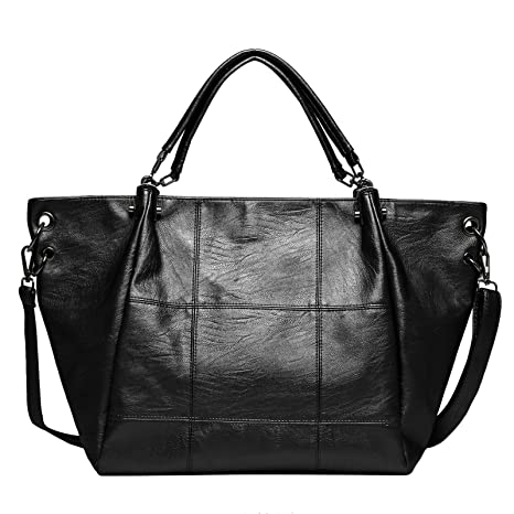 97a7ccc950c Buy Zahara Fashion Handbags Large Designer Ladies Tote Top Messager Bag Big  Hobo Purse Leather Shoulder Satchel For Women Girls Black Online at Low  Prices ...