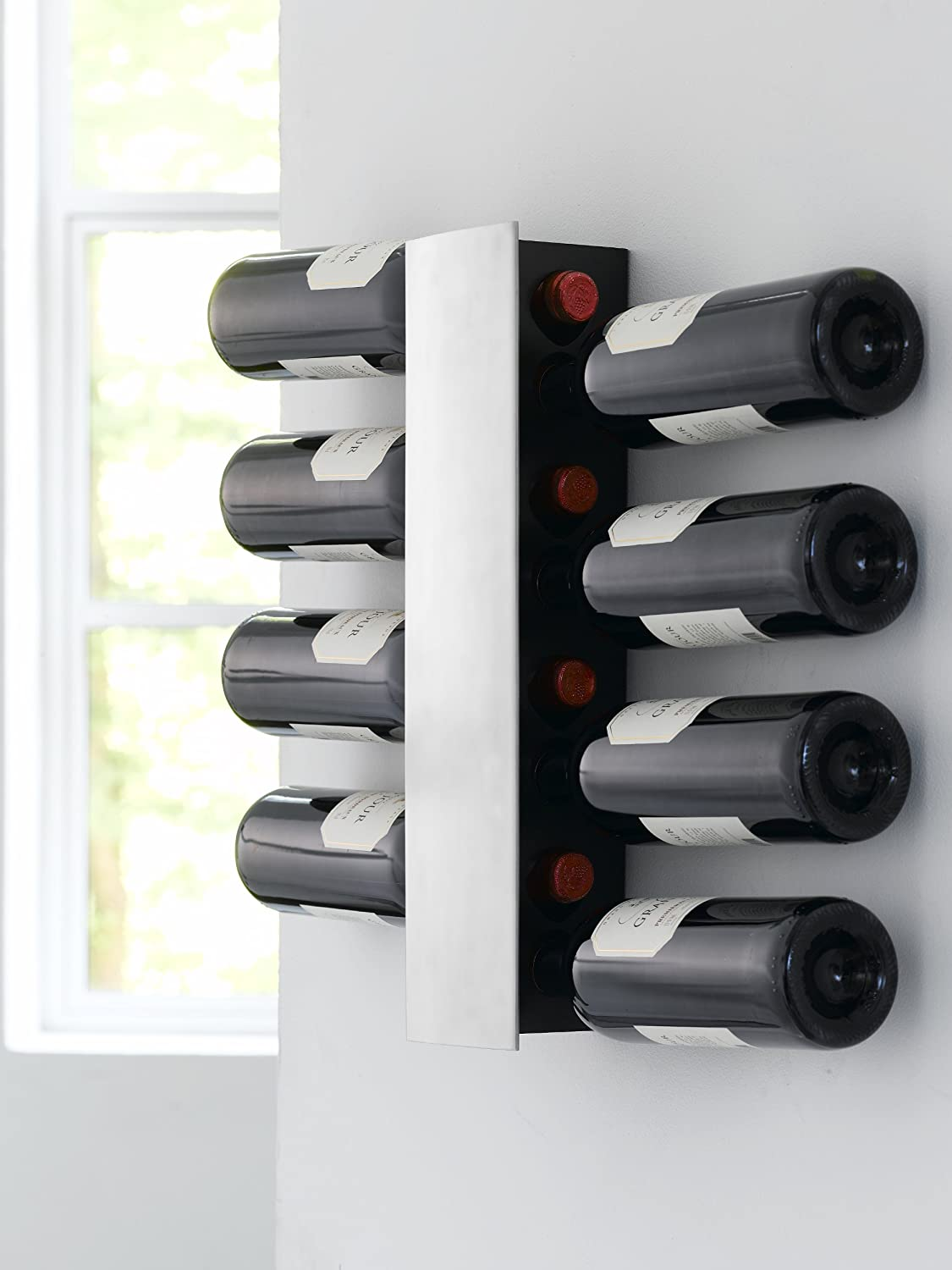 steelfunction wine and dine wall winerack for  bottles silver  - steelfunction wine and dine wall winerack for  bottles silveramazoncouk kitchen  home