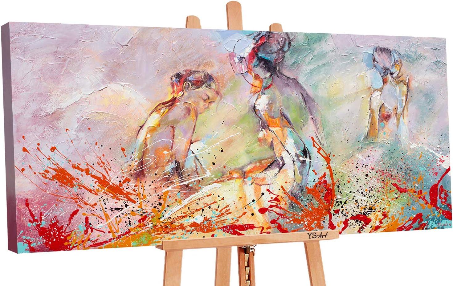 YS-Art Premium | Cuadro Pintado a Mano Verano calurosod | Cuadro Moderno acrilico | 140 x 70 cm | Lienzo Pintado a Mano | Cuadros Dormitories | único | Multicolor | PS058