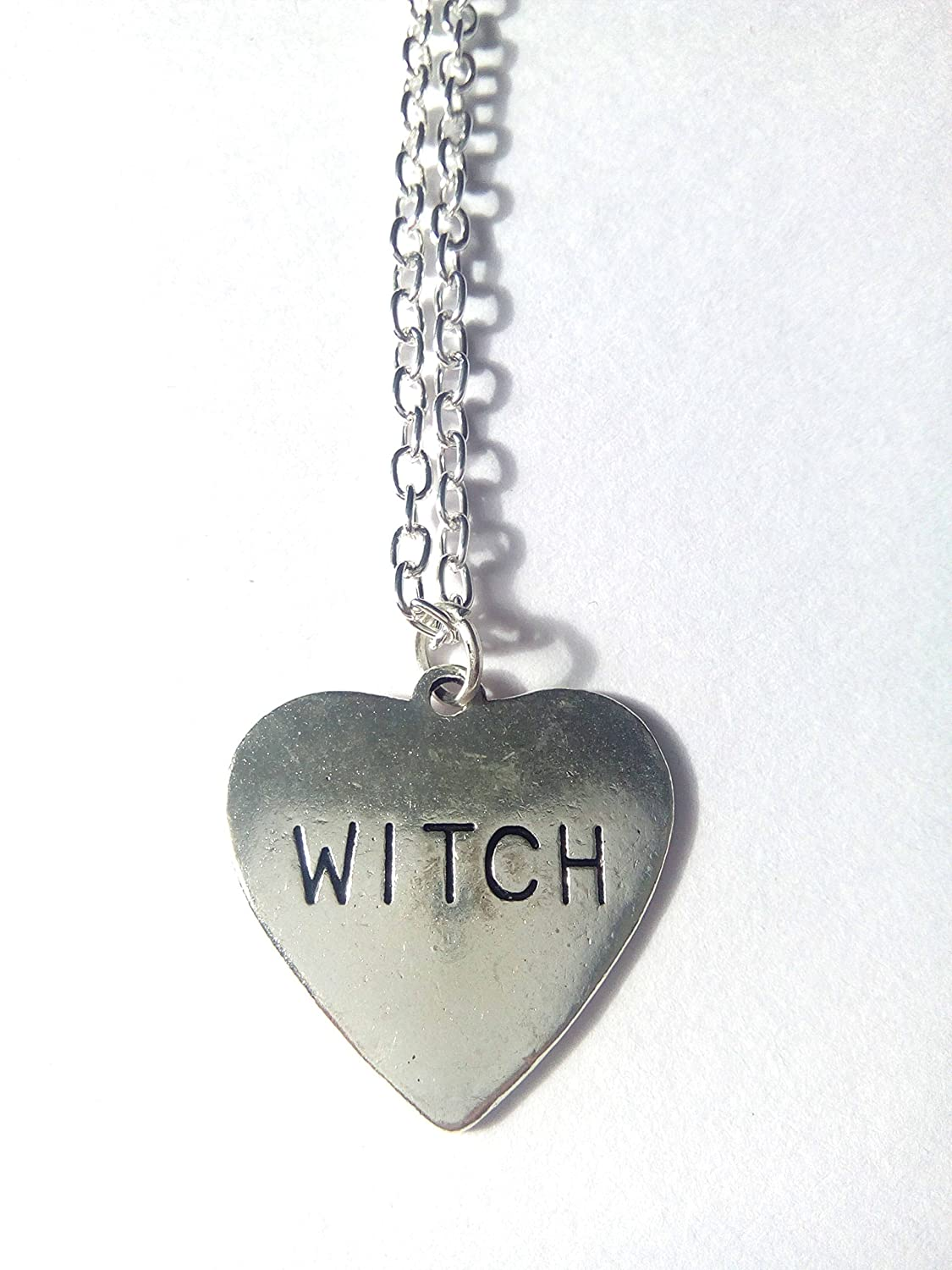 hot sports Silver Witch Heart Necklace shop now ...