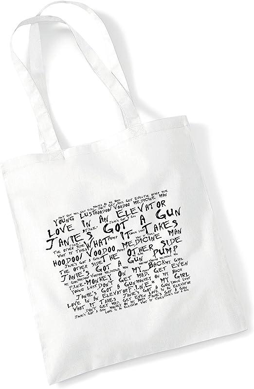 Bolsa de Tela, 100% algodón - Aerosmith - Pump - Blanco Album de ...