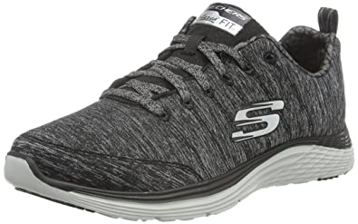 Skechers ValerisFront Page, Sneakers Basses Femmes, Gris, 38 EU