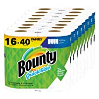 Deals on Bounty Quick-Size Paper Towels White 16 Family Rolls