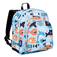 Wildkin Toddler Big Fish Children's Backpack, 30 cm, 2 L, Blue
