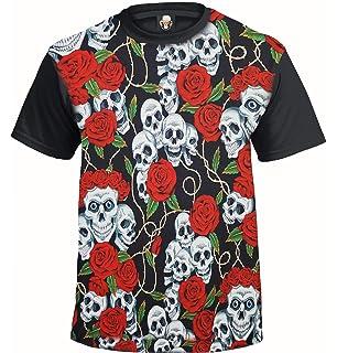 d41d9de43cb3 Trend Gear Skull & Roses Sublimation T-Shirt/Tattoo/Rockabilly/Biker/