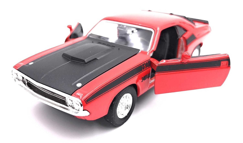 Welly Dodge Challenger T/A 1970 Modellauto Auto Lizenzprodukt 1:34-1:39 Rot