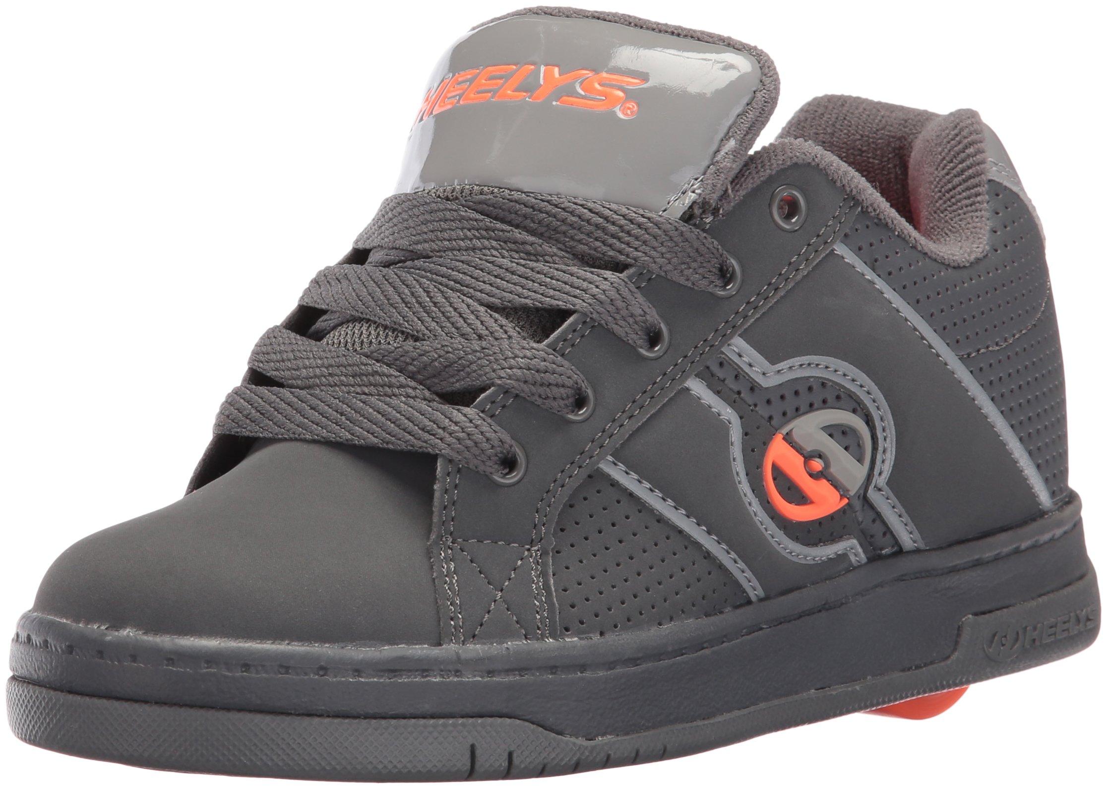 Heelys Kids' Split Sneaker,Dark Grey/Light Grey/Orange,8 M US Big Kid