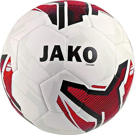 JAKO Champ - Balón de fútbol, Todo el año, Color Blanco, Rojo y ...