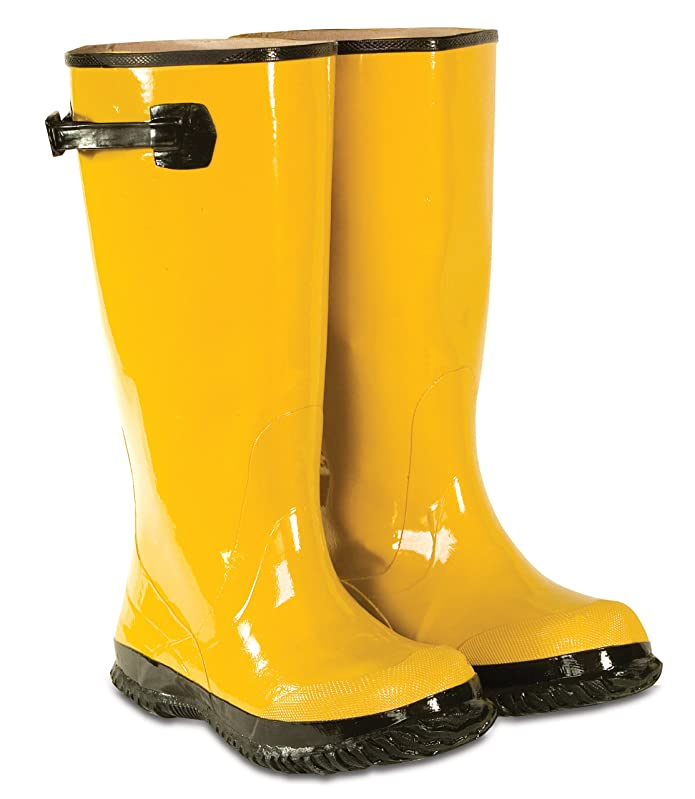 Custom Leathercraft R20008 17-Inch Rain Wear Yellow Slush Boot, (Size 8)
