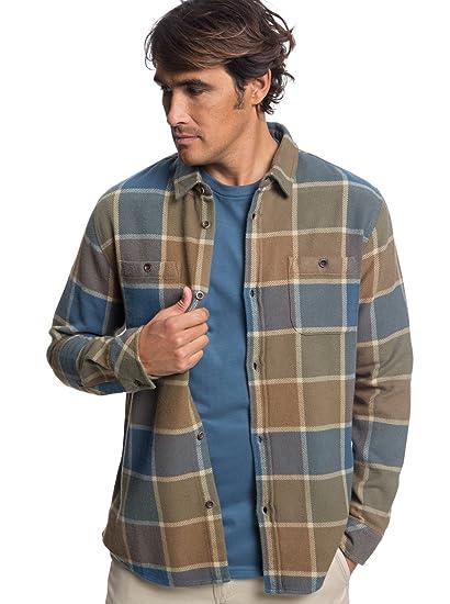 Hombre Manga Larga L Técnica De Azul Camiseta Quiksilver txXp484