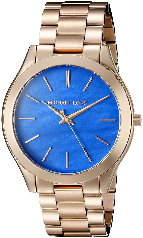 60d18edd26ad Amazon.com  Michael Kors Women s Slim Runway Rose Gold Watch MK3494  Watches